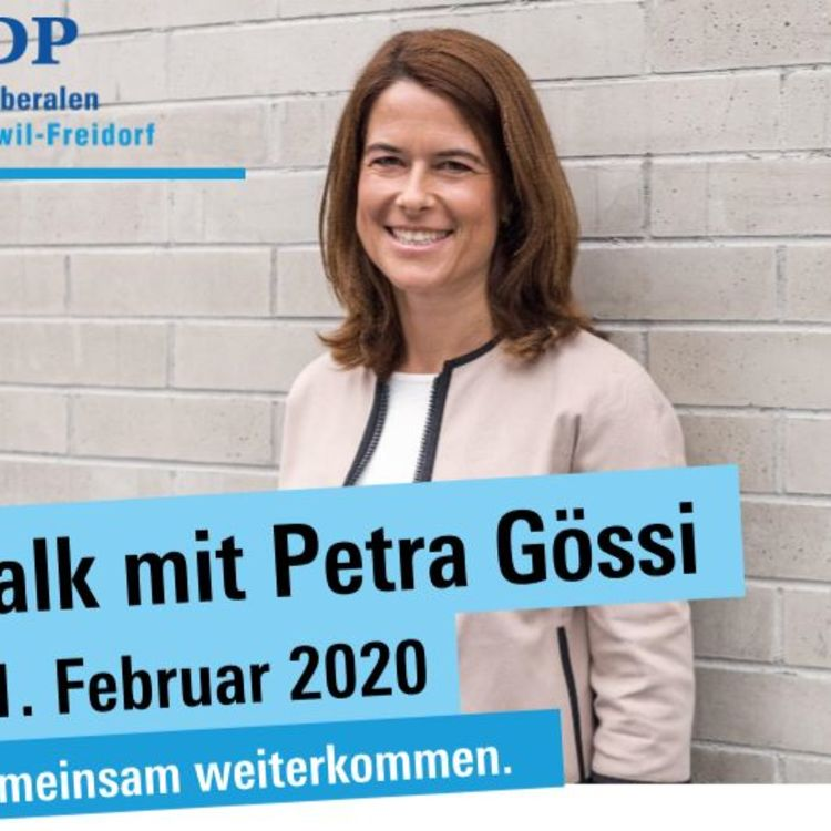 FDP Roggwil-Freidorf: Talk mit Petra Gössi am 11. Februar 2020